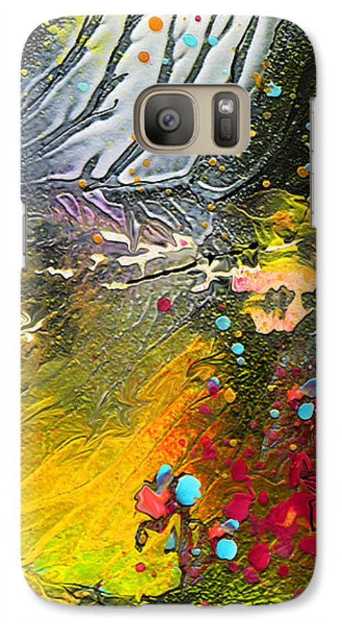Miki Galaxy S7 Case featuring the painting First Light by Miki De Goodaboom