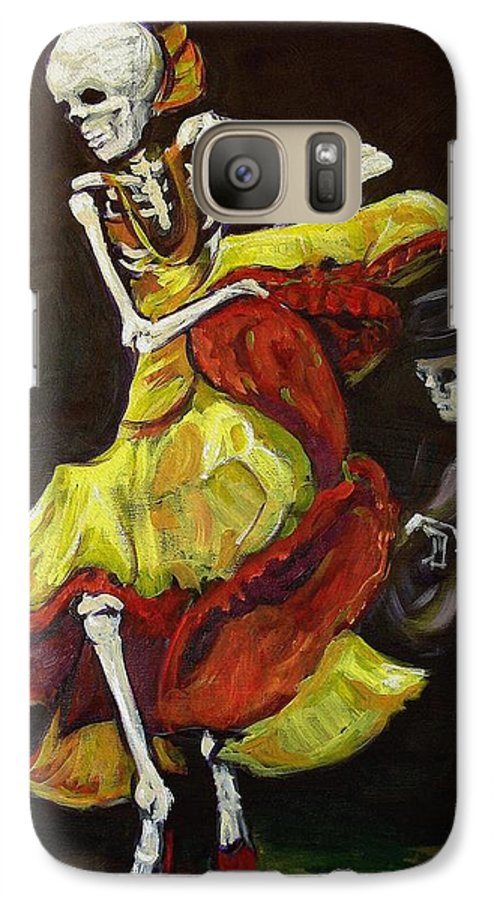 Muertos Galaxy S7 Case featuring the painting Flamenco Vi by Sharon Sieben
