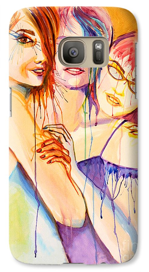 Portraits Galaxy S7 Case featuring the painting Flawless by Angelique Bowman