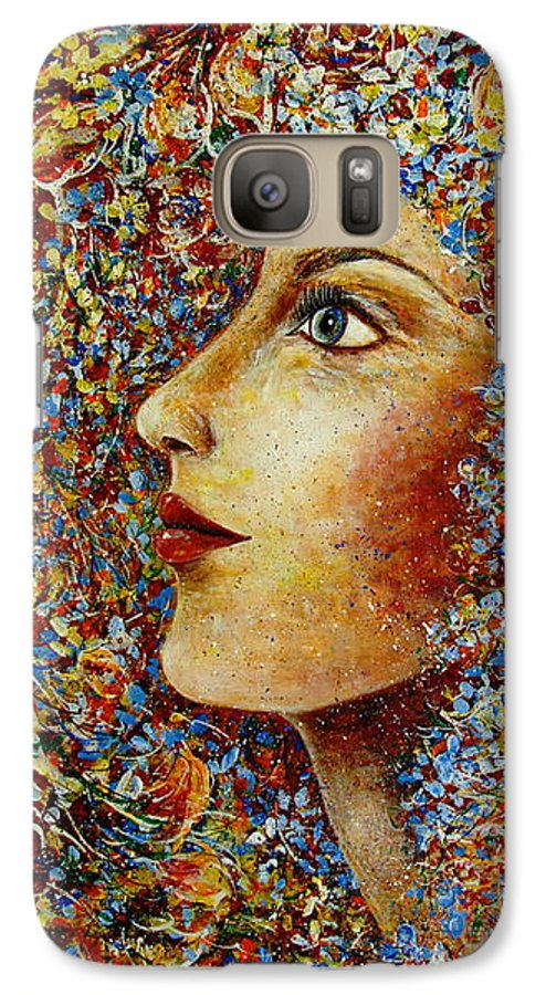 Flower Goddess Galaxy S7 Case featuring the painting Flower Goddess. by Natalie Holland