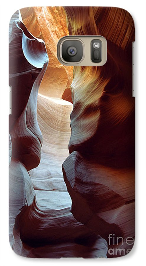 Slot Canyon Galaxy S7 Case featuring the photograph Follow The Light II by Kathy McClure