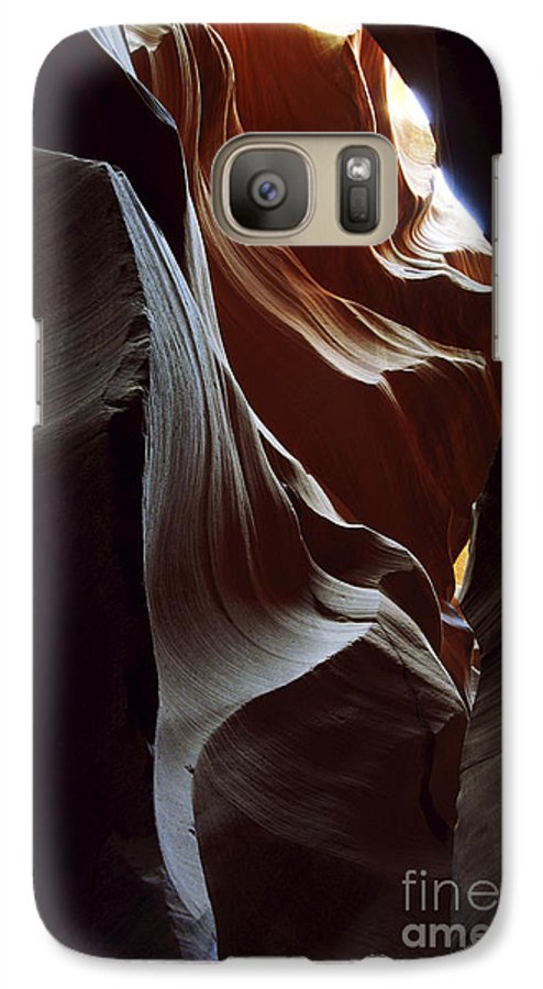 Antelope Canyon Galaxy S7 Case featuring the photograph Follow The Light by Kathy McClure
