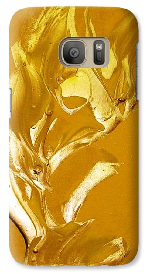 Gold Galaxy S7 Case featuring the painting For Love  For All by Bruce Combs - REACH BEYOND
