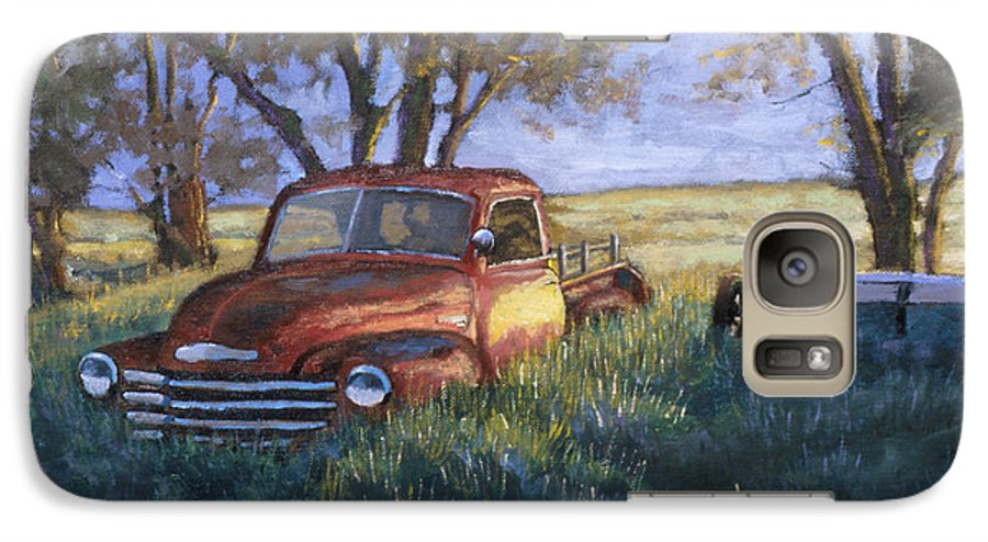 Pickup Truck Galaxy S7 Case featuring the painting Forgotten But Still Good by Jerry McElroy