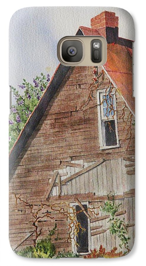 Farm Galaxy S7 Case featuring the painting Forgotten Dreams Of Old by Mary Ellen Mueller Legault