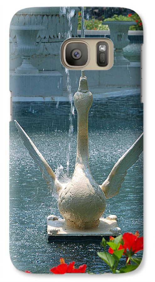 Forsyth Fountain Galaxy S7 Case featuring the photograph Forsyth Fountain II Detail In Savannah Georgia by Suzanne Gaff