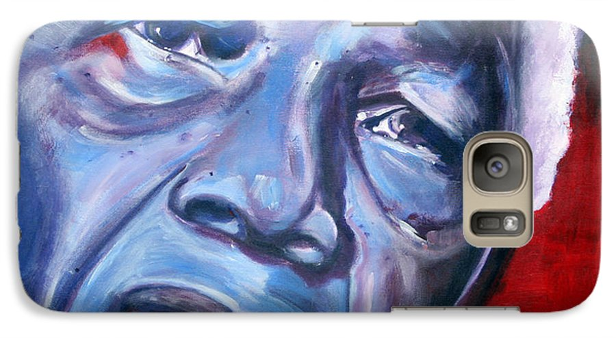 Nelso Mandela Galaxy S7 Case featuring the painting Freedom - Nelson Mandela by Fiona Jack