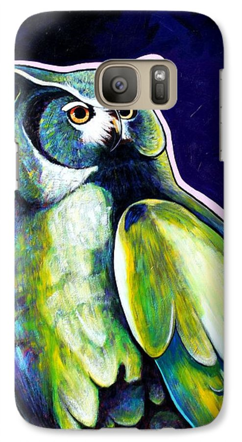 Owl Galaxy S7 Case featuring the painting From The Shadows by Joe Triano