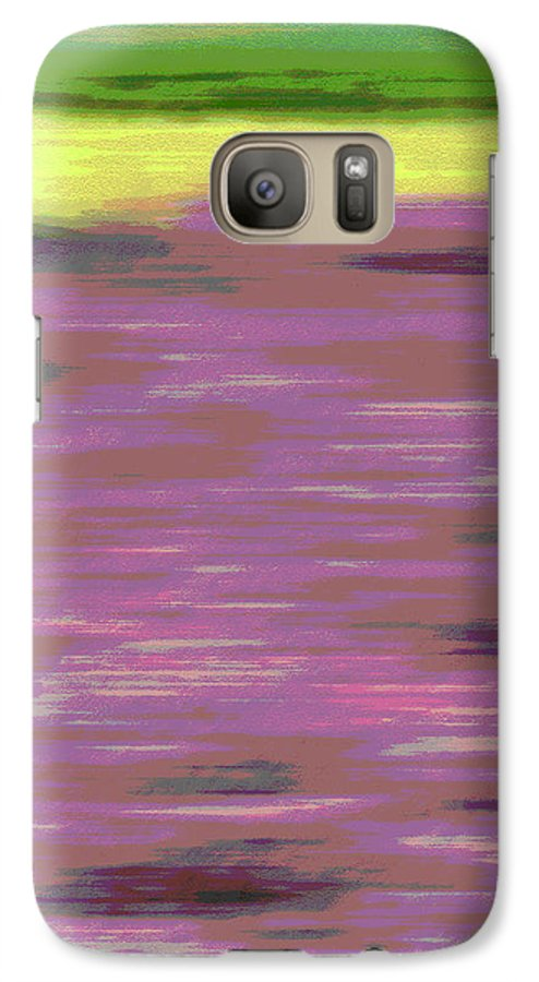 Abstract Galaxy S7 Case featuring the photograph Garden Abstract by Suzanne Gaff