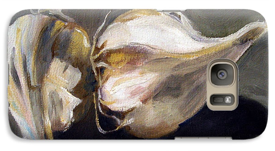 Still-life Galaxy S7 Case featuring the painting Garlic by Sarah Lynch