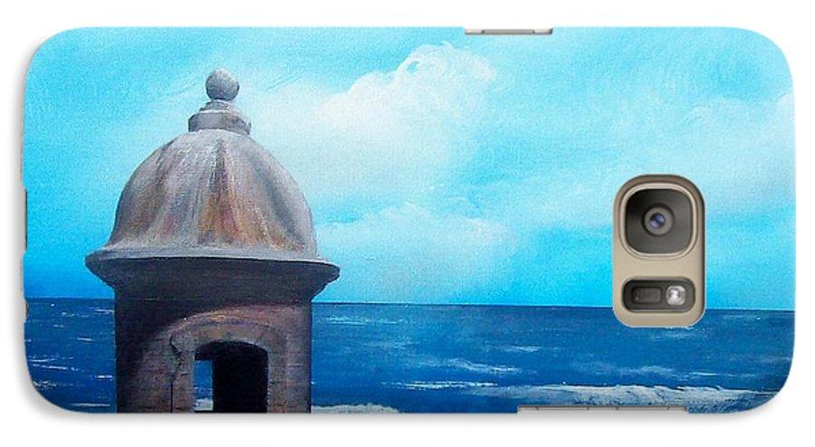 Garrita Del Diablo Galaxy S7 Case featuring the painting Garrita Del Diablo by Tony Rodriguez