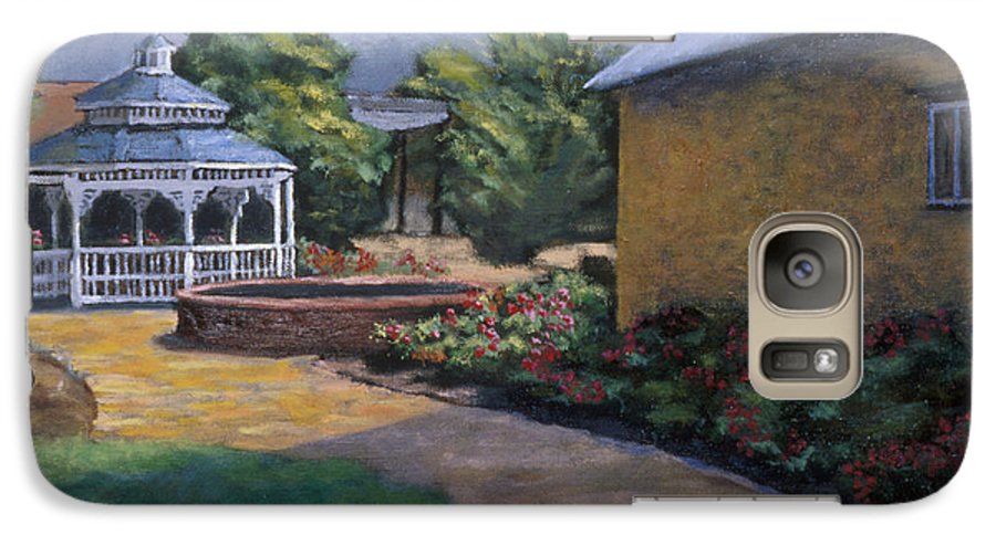 Potter Galaxy S7 Case featuring the painting Gazebo In Potter Nebraska by Jerry McElroy