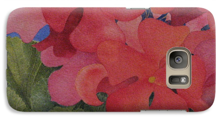 Florals Galaxy S7 Case featuring the painting Generium by Mary Ellen Mueller Legault