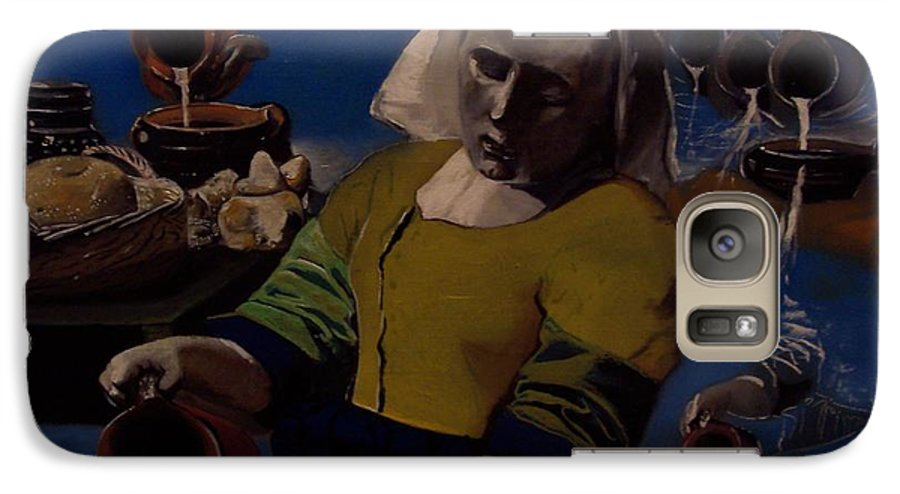 Galaxy S7 Case featuring the painting Geological Milk Maid Anthropomorphasized by Jude Darrien