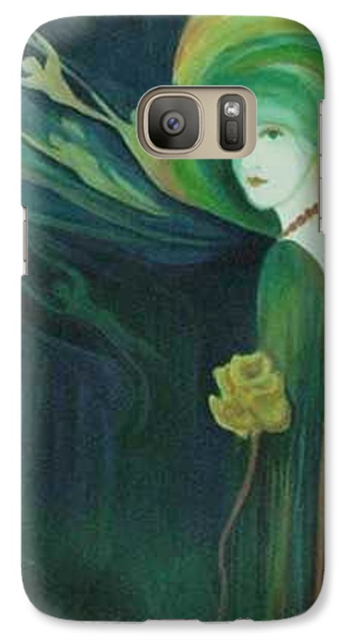Women Galaxy S7 Case featuring the painting My Haunted Past by Carolyn LeGrand