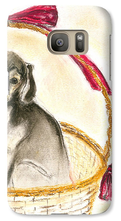 Dog Galaxy S7 Case featuring the drawing Gift Basket by Cori Solomon