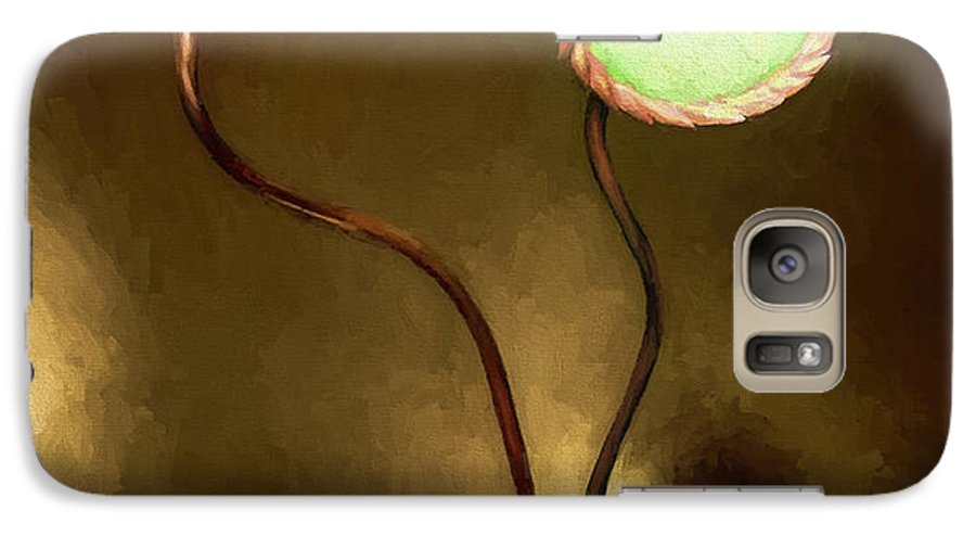 Fine Art Galaxy S7 Case featuring the painting Glass Flowers by David Wagner