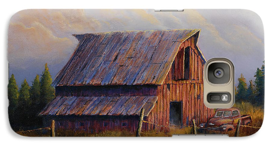 Barn Galaxy S7 Case featuring the painting Grandpas Truck by Jerry McElroy