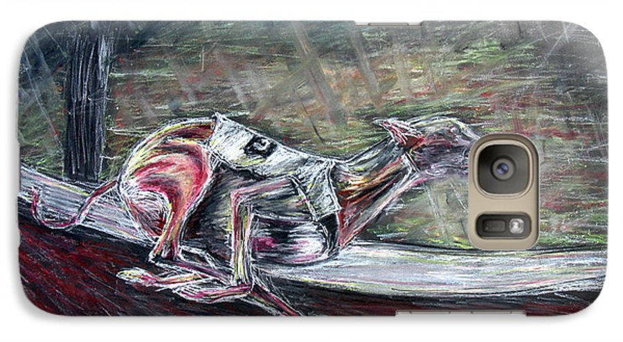Dog Galaxy S7 Case featuring the drawing Greyhound Number Three by Tom Conway