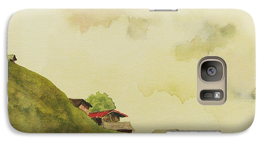 Swiss Galaxy S7 Case featuring the painting Grindelwald Dobie Inspired by Mary Ellen Mueller Legault