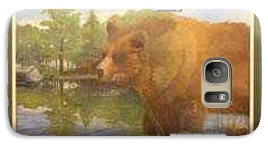 Rick Huotari Galaxy S7 Case featuring the painting Grizzly by Rick Huotari