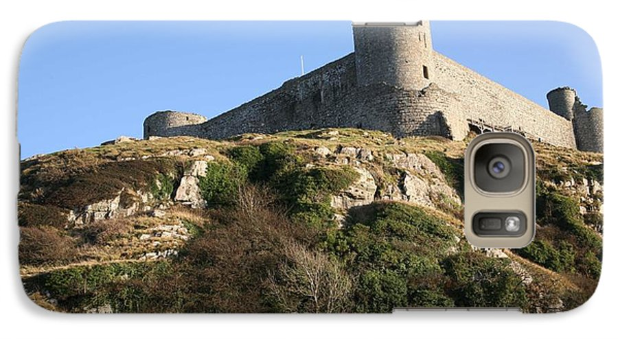 Castles Galaxy S7 Case featuring the photograph Harlech Castle by Christopher Rowlands