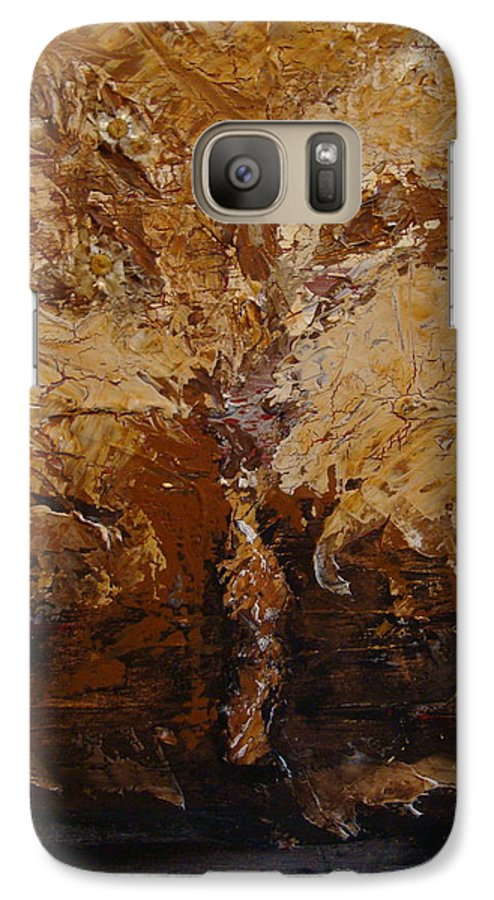 Tree Galaxy S7 Case featuring the painting Harvest by Holly Picano