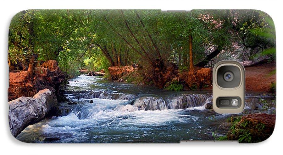 Arizona Galaxy S7 Case featuring the photograph Havasu Creek by Kathy McClure