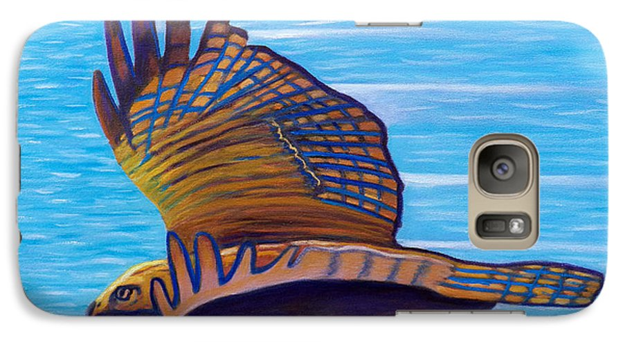 Hawk Galaxy S7 Case featuring the painting Hawk Speed by Brian Commerford