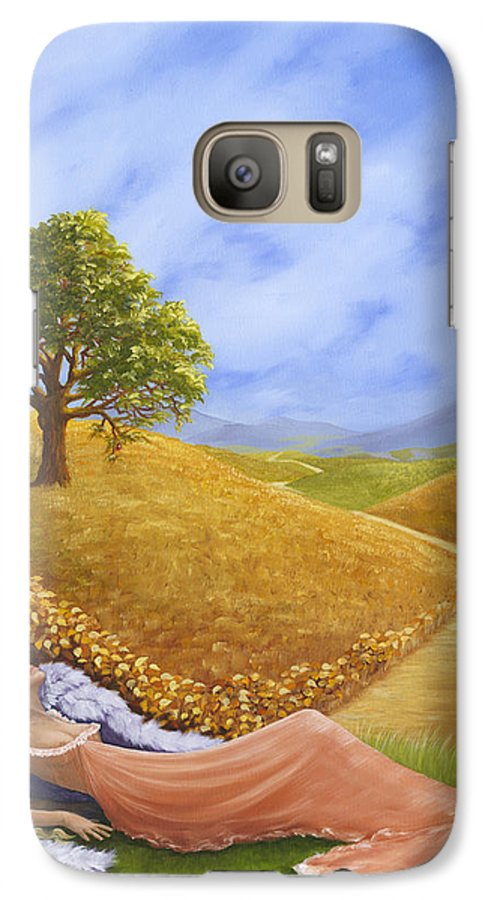 Angel Galaxy S7 Case featuring the painting Heaven On Earth by Brenda Ellis Sauro
