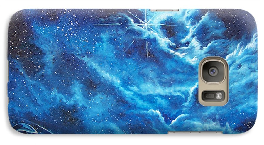 Astro Galaxy S7 Case featuring the painting Heavens Gate by Murphy Elliott