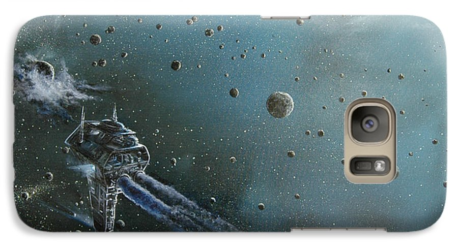 Astro Galaxy S7 Case featuring the painting Hiding In The Field by Murphy Elliott