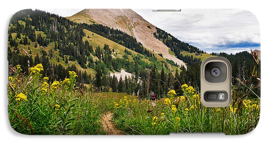 3scape Galaxy S7 Case featuring the photograph Hiking In La Sal by Adam Romanowicz