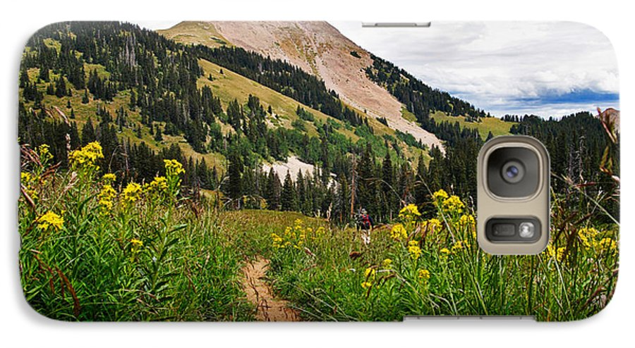 3scape Photos Galaxy S7 Case featuring the photograph Hiking In La Sal by Adam Romanowicz