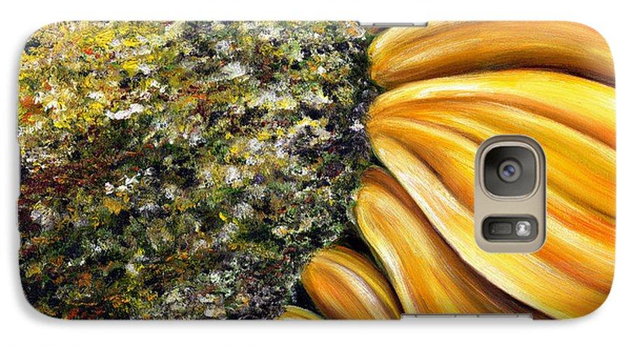 Sun Flower Galaxy S7 Case featuring the painting Himawari by Hiroko Sakai
