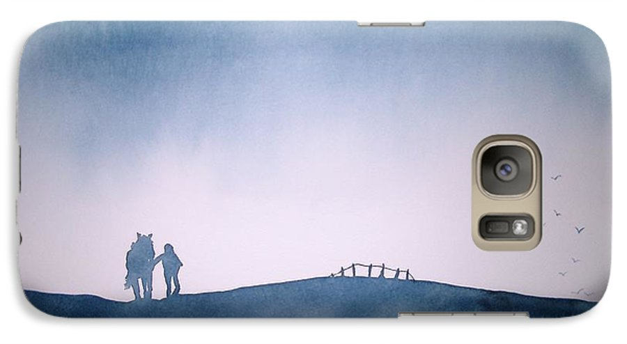 Horse Galaxy S7 Case featuring the painting Homeward Bound by Janice Gell