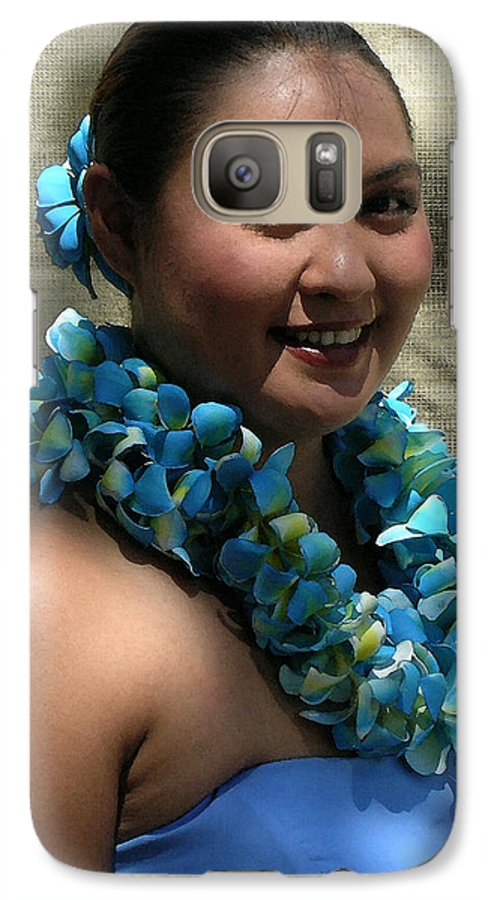 Hawaii Iphone Cases Galaxy S7 Case featuring the photograph Hula Blue by James Temple