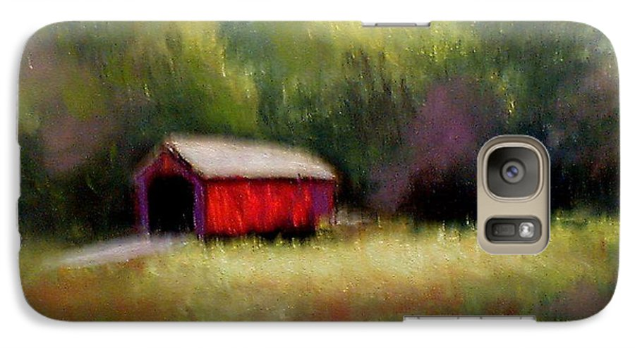 Covered Bridge Galaxy S7 Case featuring the painting Hune Bridge by Gail Kirtz