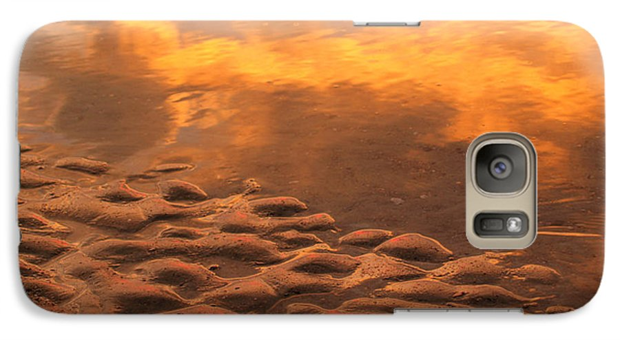 Sunrise Galaxy S7 Case featuring the photograph Hunting Island Sunrise Reflections by Anna Lisa Yoder