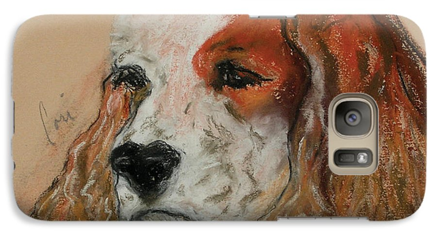 Dog Galaxy S7 Case featuring the pastel Idle Thoughts by Cori Solomon