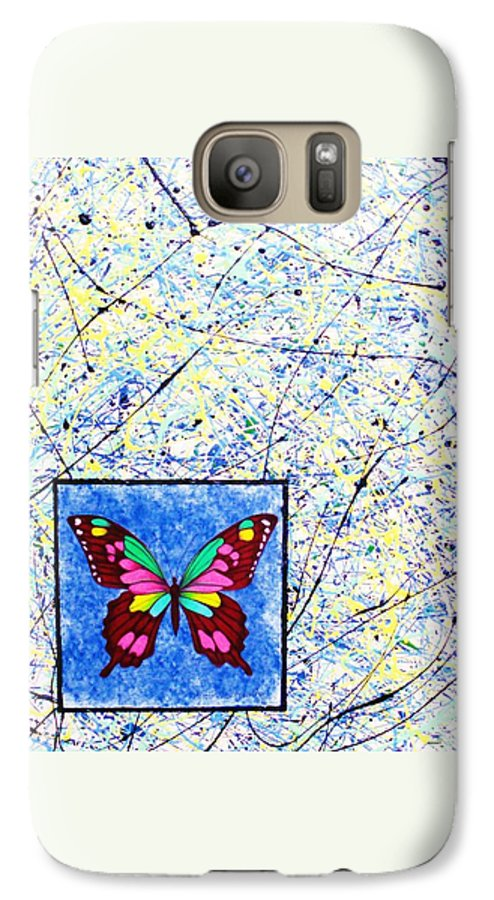 Abstract Galaxy S7 Case featuring the painting Imperfect I by Micah Guenther