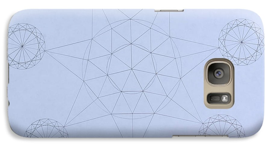 Jason Padgett Galaxy S7 Case featuring the drawing Impossible Parallels by Jason Padgett