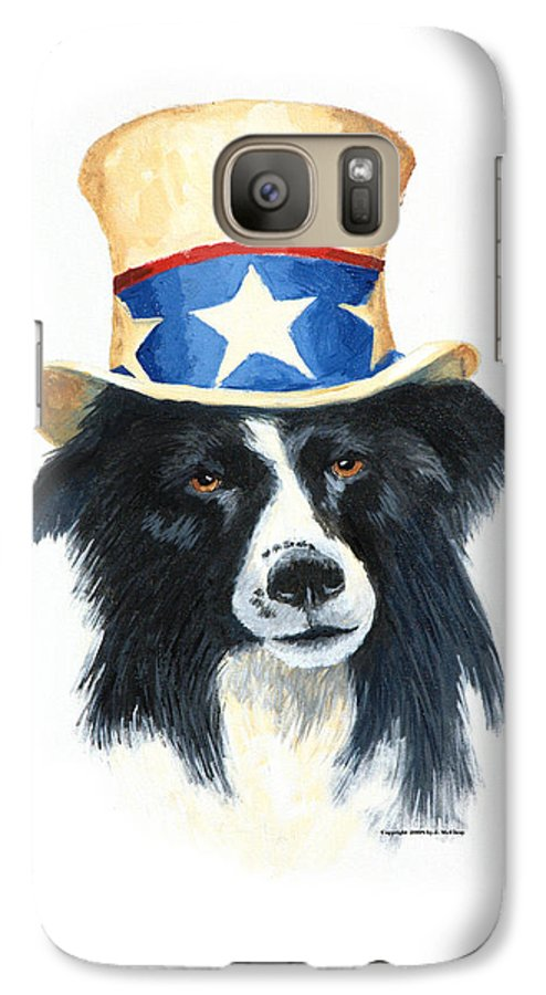 Dog Galaxy S7 Case featuring the painting In Dog We Trust by Jerry McElroy