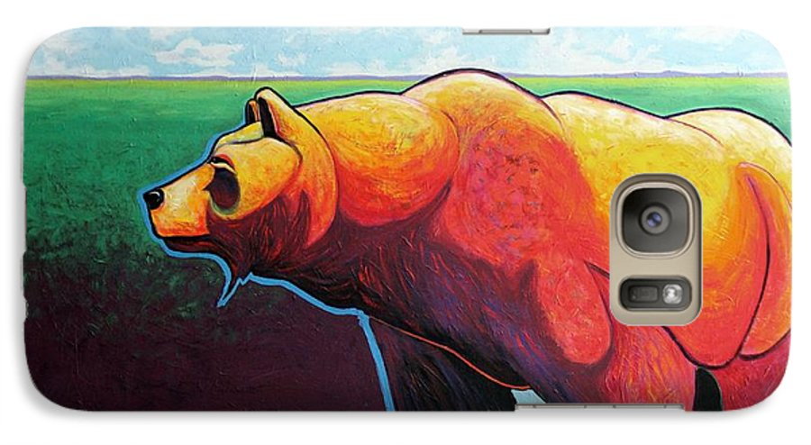 Grizzly Bear Galaxy S7 Case featuring the painting In His Prime by Joe Triano