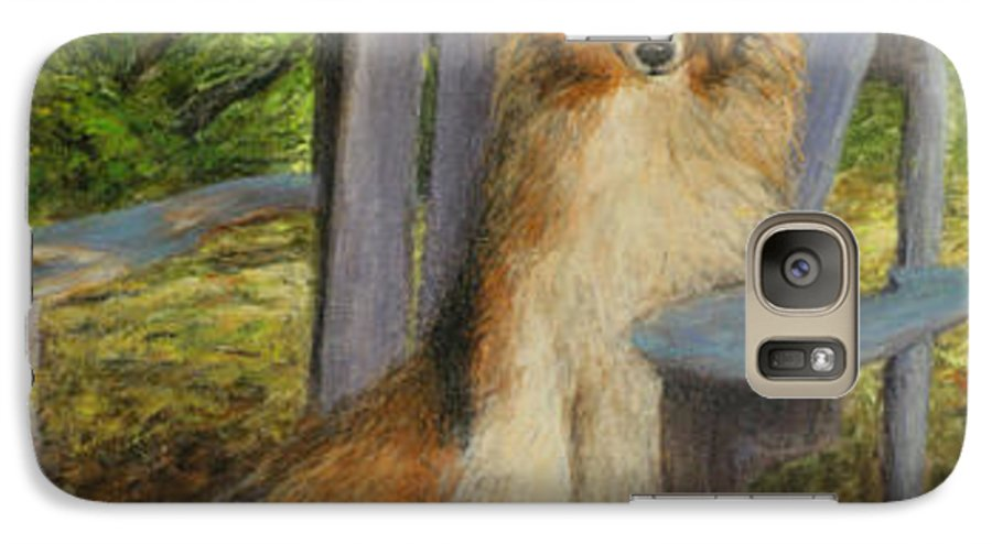 Pets Galaxy S7 Case featuring the painting In Memory Of Esha by Chris Neil Smith