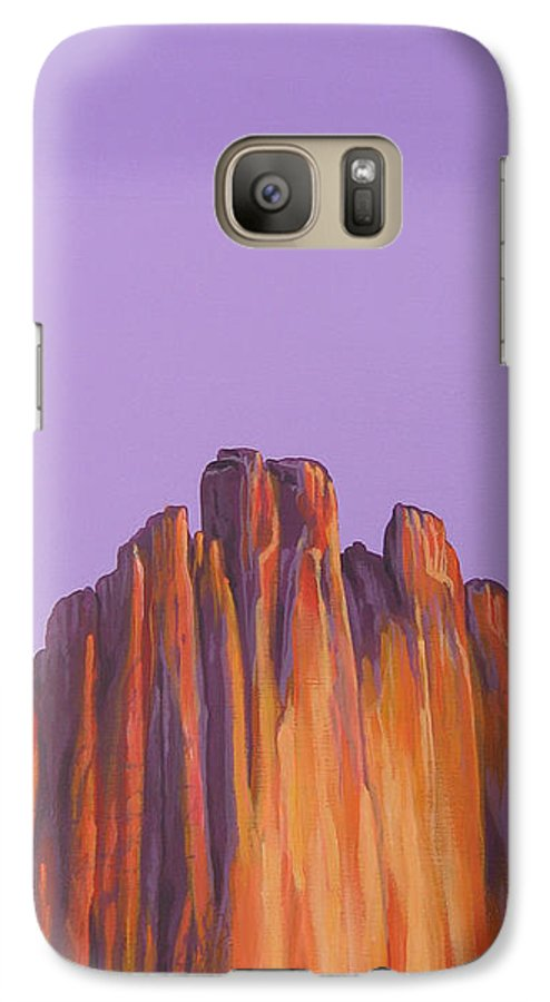 Landscape Galaxy S7 Case featuring the painting Inscription Rock by Hunter Jay