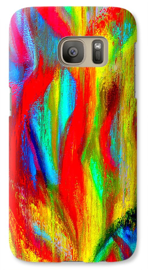 Abstract Galaxy S7 Case featuring the painting Inspire Experiment by Stan Hamilton