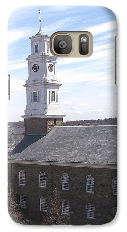 Architecture Galaxy S7 Case featuring the photograph Into The Blue by Pharris Art