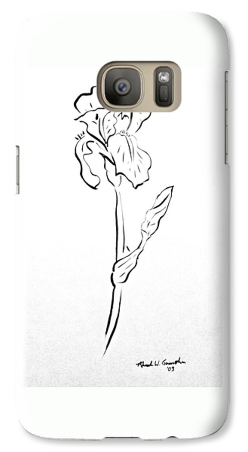 Abstract Galaxy S7 Case featuring the drawing Iris II by Micah Guenther