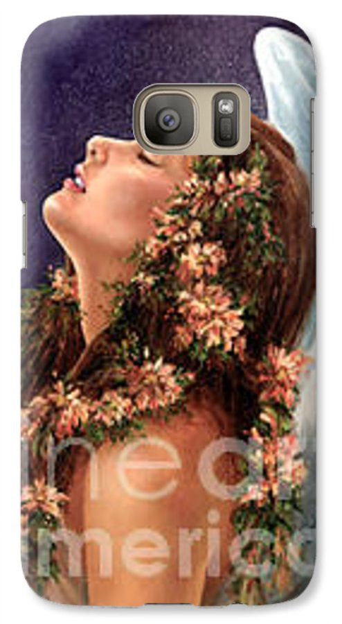 Angel Galaxy S7 Case featuring the painting Island Angel by Wendy Froshay